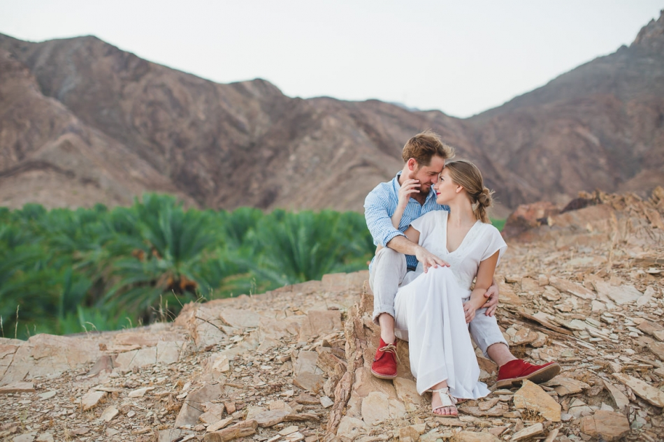 intimate love couple session from the mountian top in Nizwa, Oman