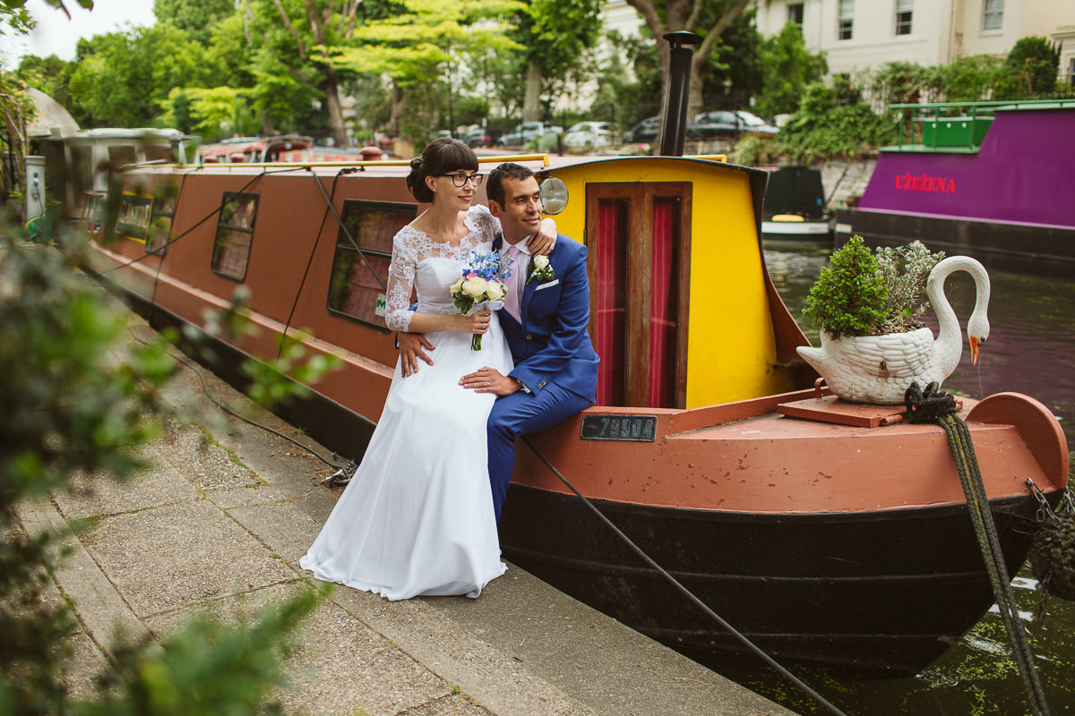 DIY wedding Little Venice London
