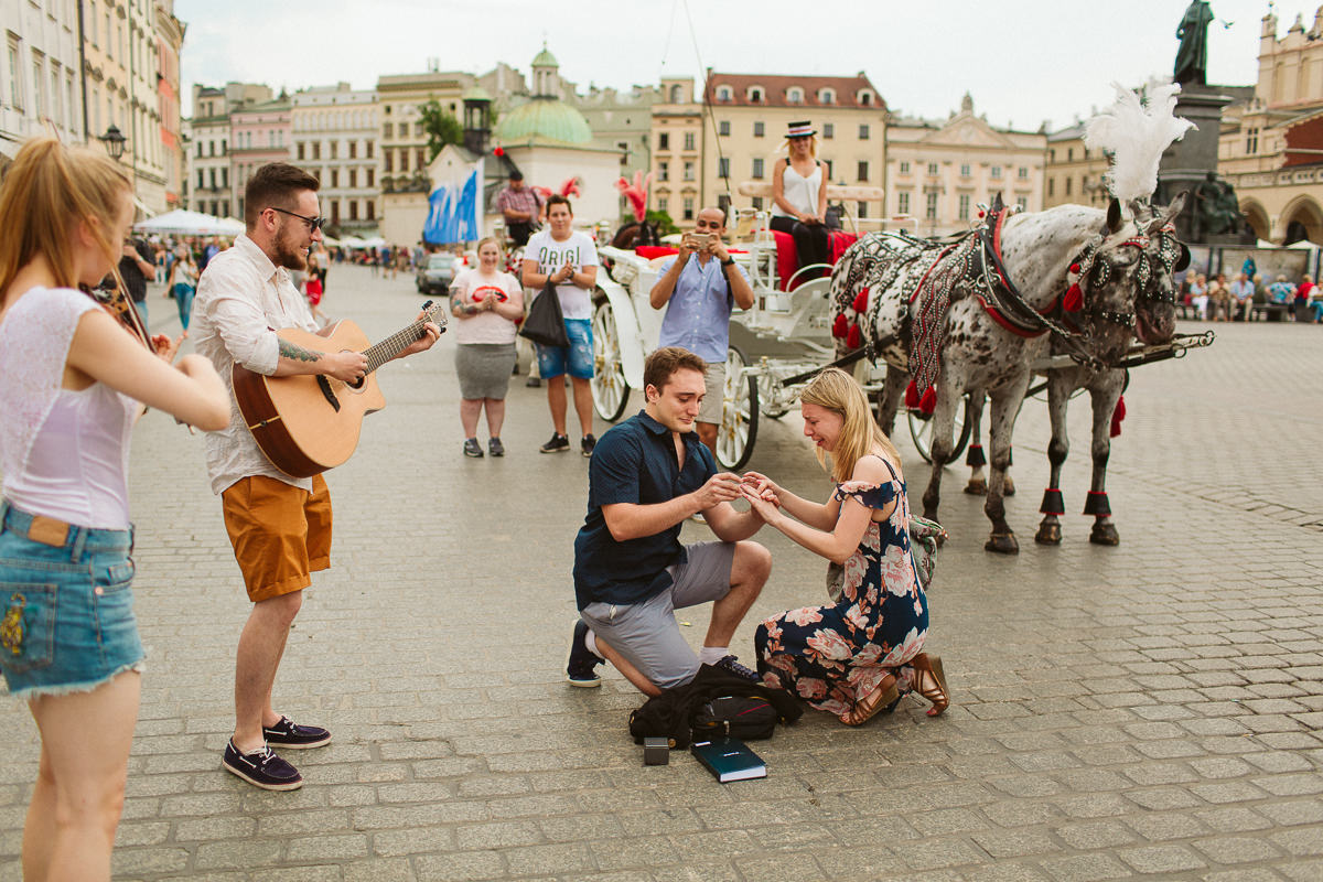 Surprise Proposal - Krakow Destination Engagement & Wedding Photography
