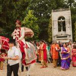 groom's horse baraat an a Hindu wedding in Windsor