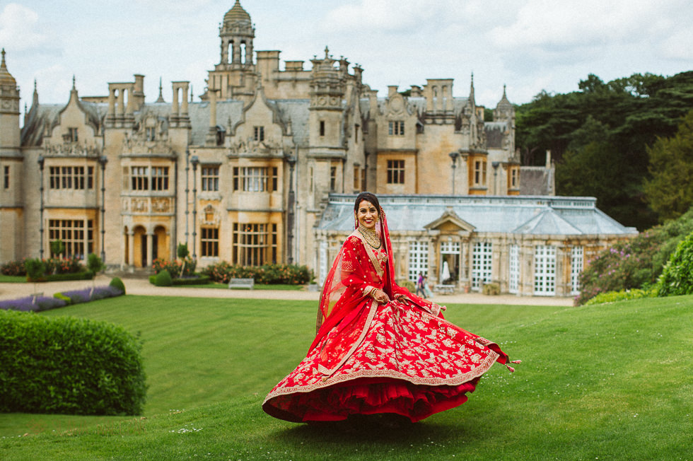 Indian Asian Bride photography at Harlaxton Manor Wedding