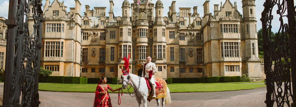Harlaxton Manor Asian Wedding Photographer