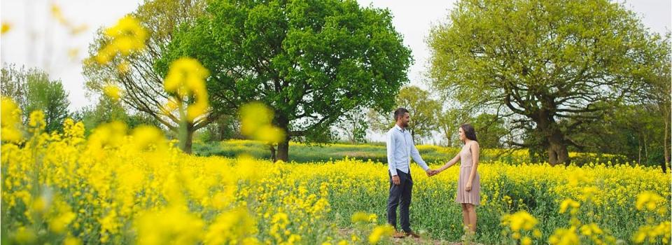 Kavita & Suraj Engagement Session Pt1- Rapeseed fields