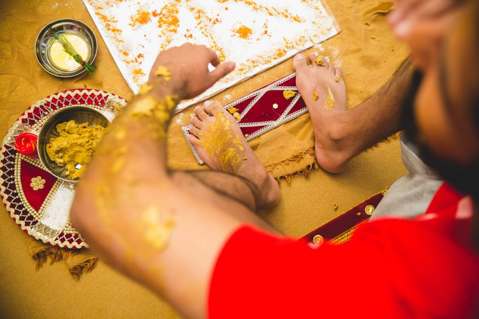 sikh groom during the maiyan pre wedding ceremony
