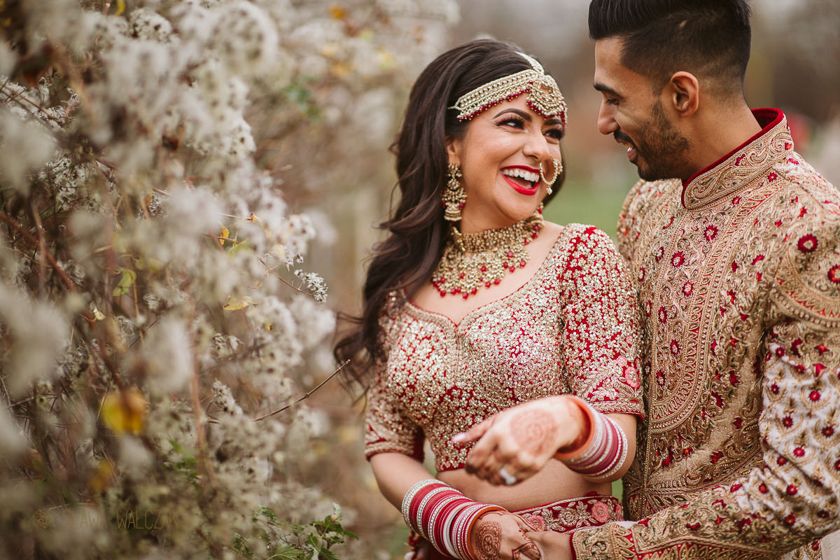 Asian couple posing for their Luxury Wedding photography in London