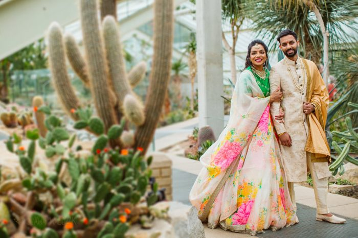 Natural asian wedding photo shoot at Princess of Wales Conservatory