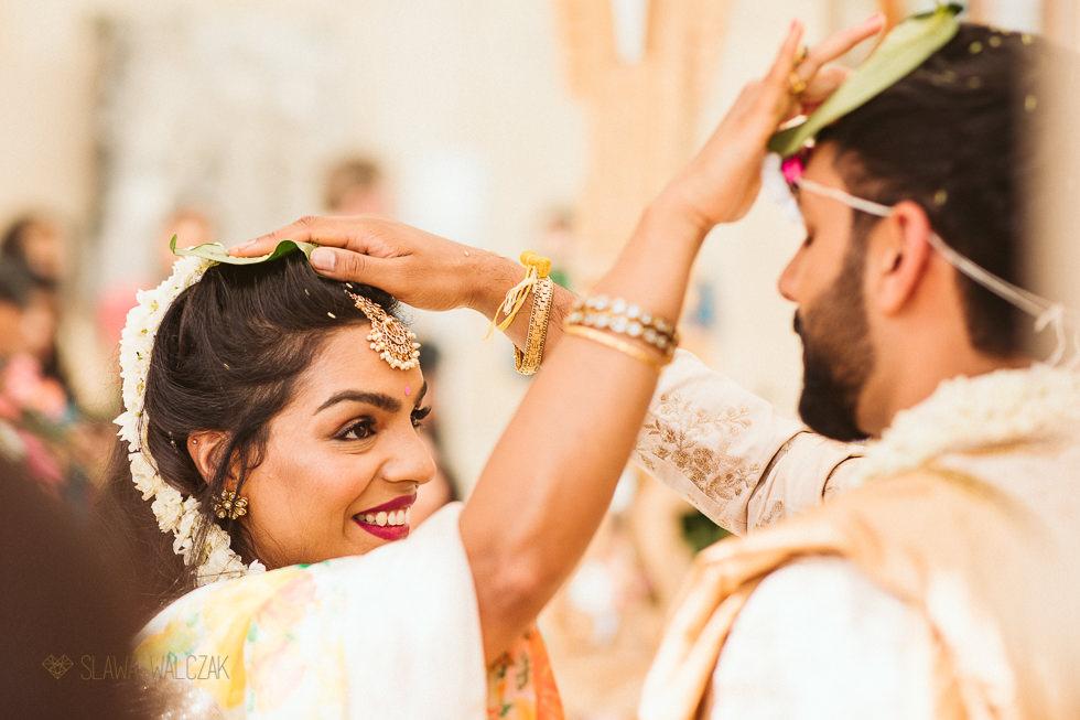 Bride during her Hindu Wedding in the Nash Conservatory Kew Gardens