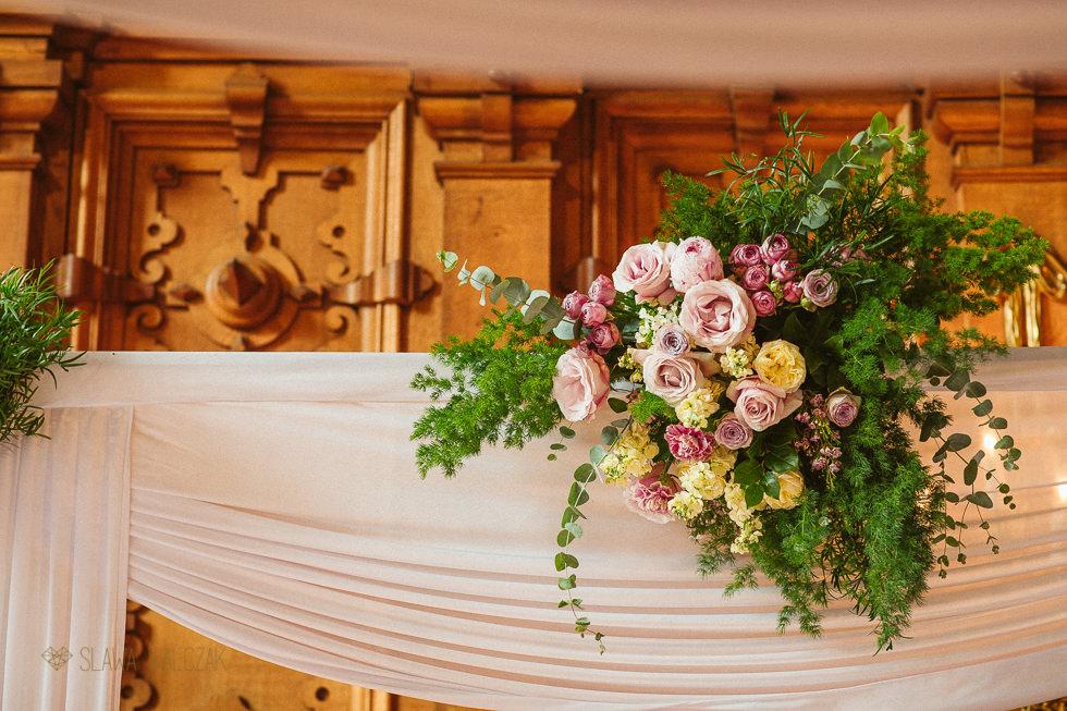 Floral Mandap decor at Harlaxton Manor