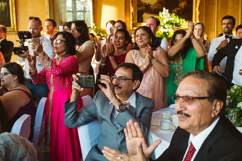 cake cutting at Harlaxton Manor Asian Hindu Wedding