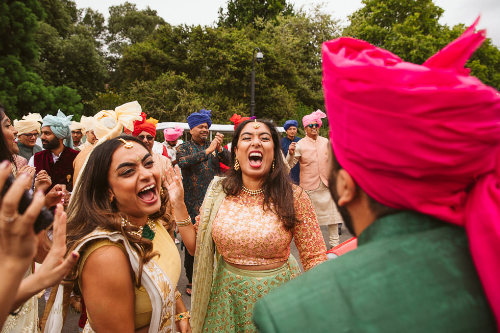 Indian Wedding Baraat at Kew Gardens London