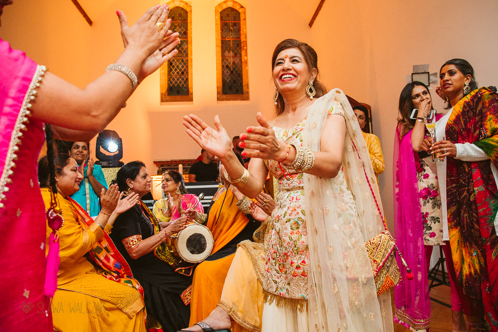 Sikh Wedding Sangeet at Westbury Castle