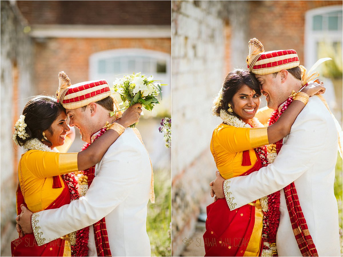 Tamil couple photo shoot at an Asian wedding at Froyle PArk