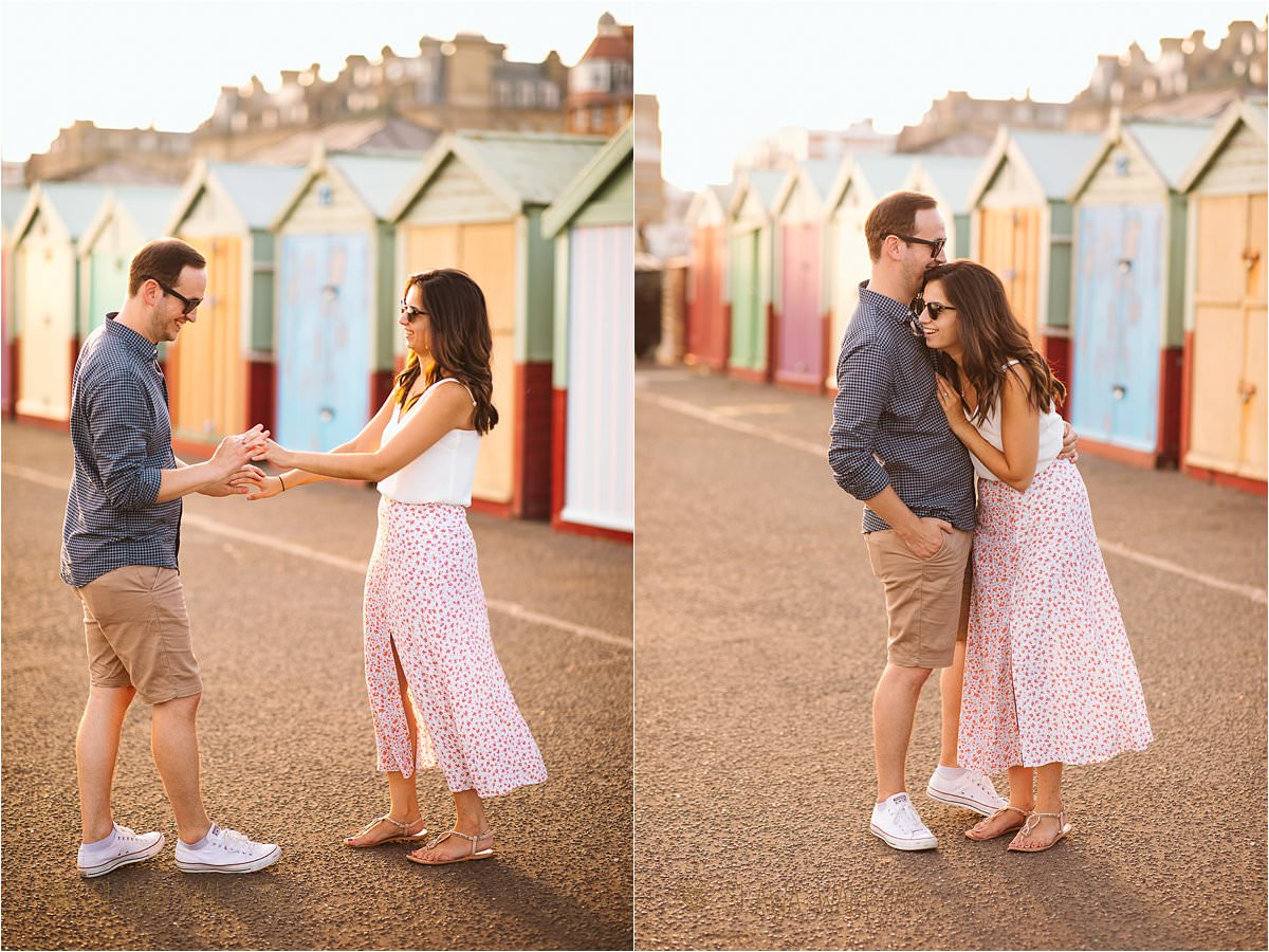 fun pre wedding photo shoot in Brighton