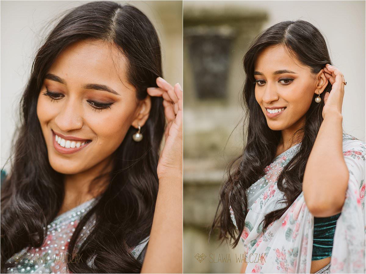 Asian Bridal portraits at an engagement photo shoot