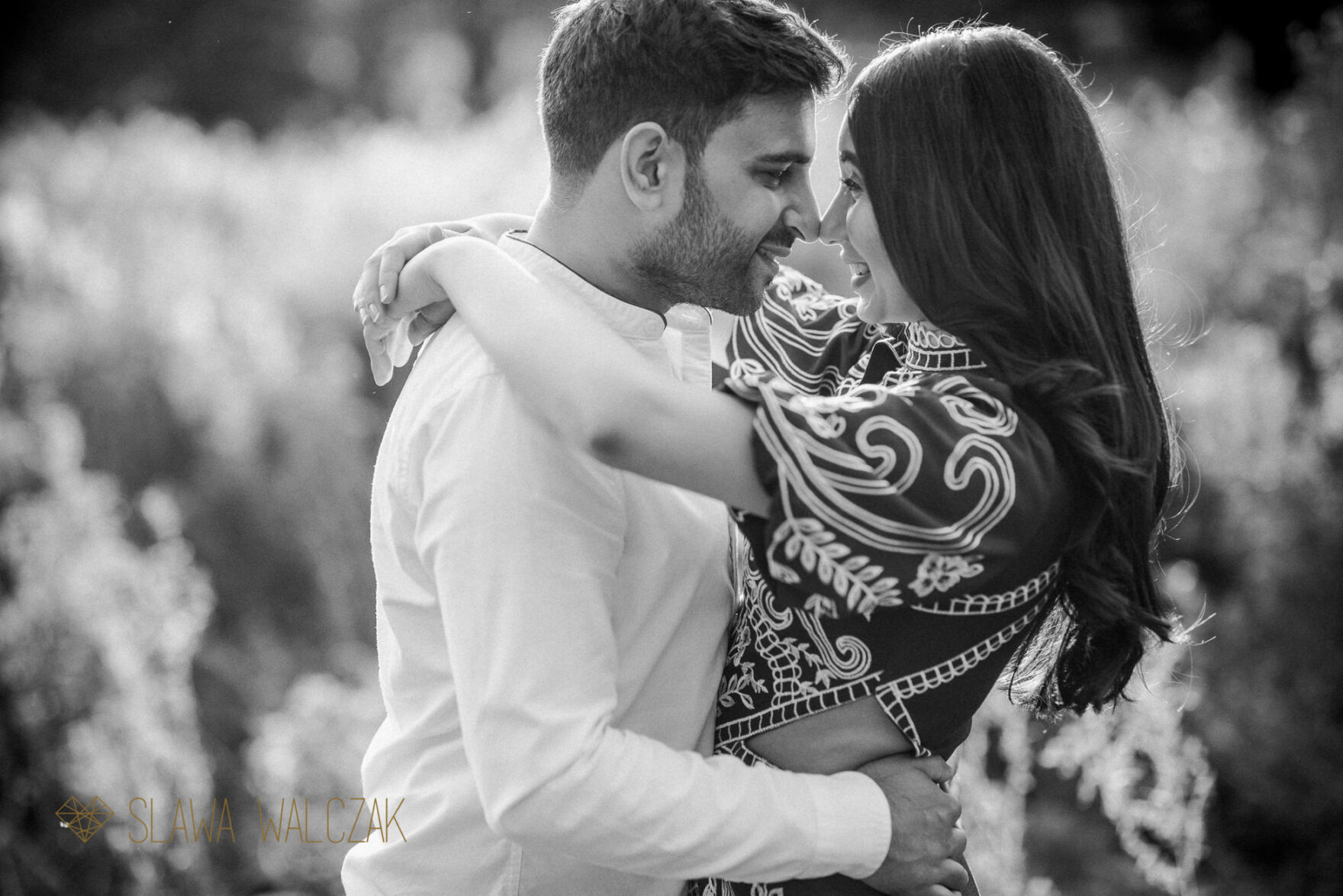 black and white pre wedding session Cotswolds photo