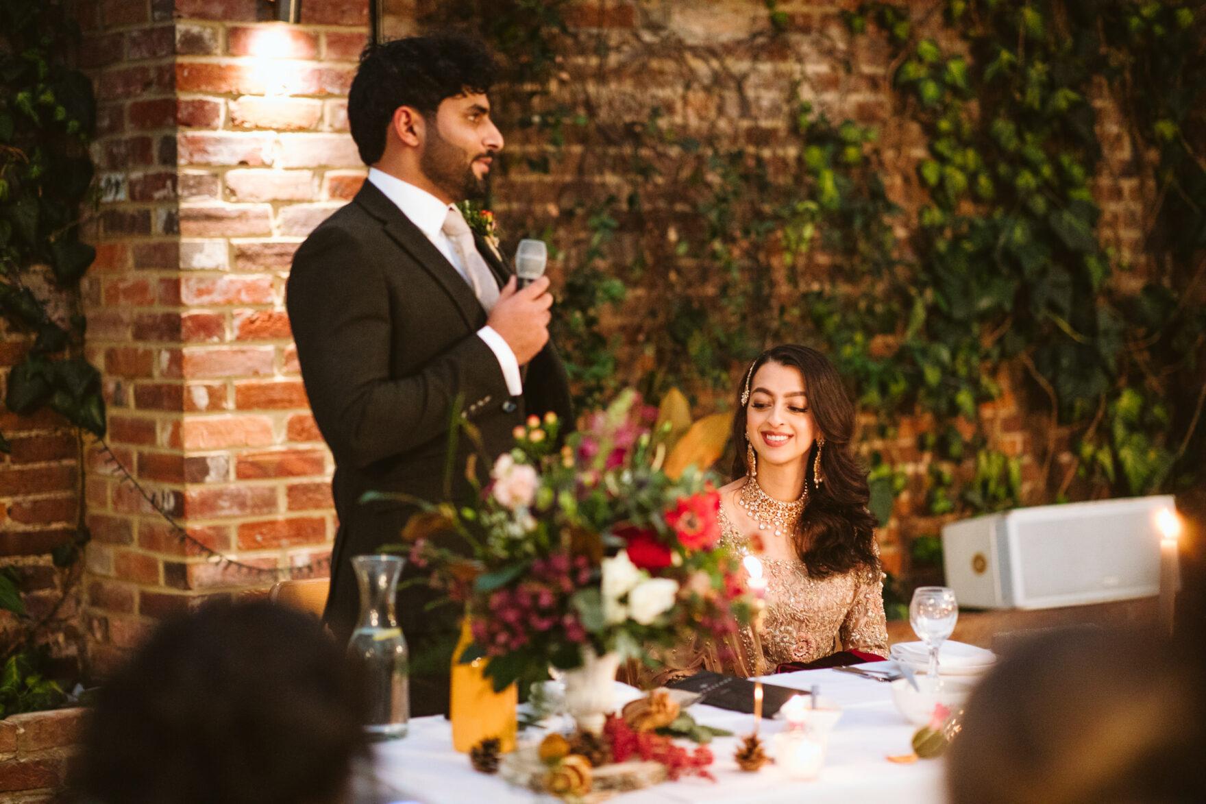 Muslim Groom speeches at his Islamic Wedding