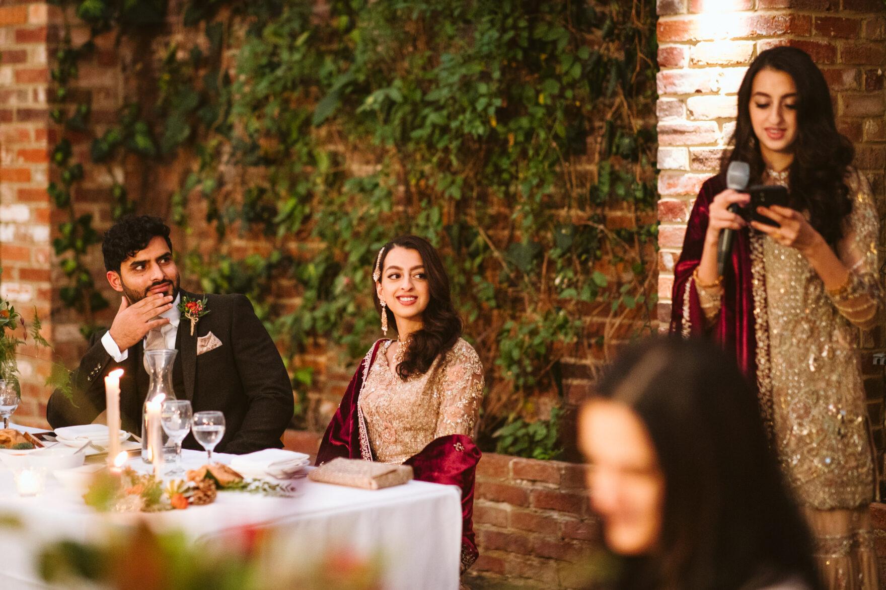 Wedding speeches ata Nikkah Wedding Lodnon